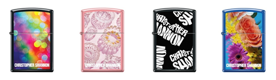 Lighters by Christopher Shannon for Zippo
